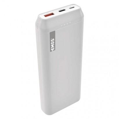 Powerbanka EMOS AlphaQ 20, 20000 mAh, bílá