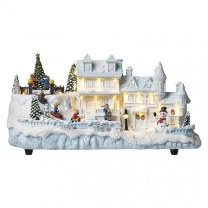 LED vánoční domeček 20x38cm, vnitřní, teplá bílá