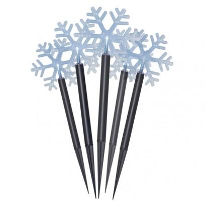 LED vánoční vločky, 30cm, venkovní, studená bílá, časovač