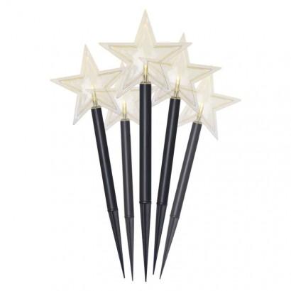 LED vánoční hvězdy, 30cm, venkovní, teplá bílá, časovač