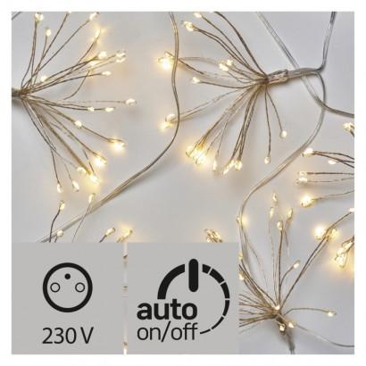 LED vánoční girlanda –  nano svítící trsy, teplá bílá