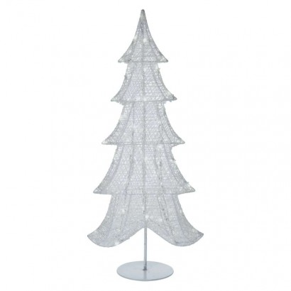 LED vánoční 3D stromek, 90cm, vnitřní, studená bílá, časovač