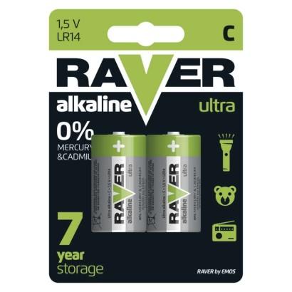Alkalická baterie RAVER LR14 (C)