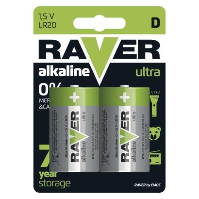 Alkalická baterie RAVER LR20 (D)