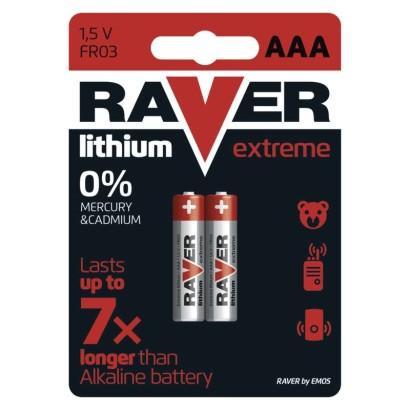 Lithiová baterie RAVER FR03 (AAA)