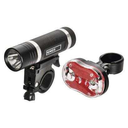 LED přední + zadní svítilna na kolo P3920 na 5× AAA, 150 lm
