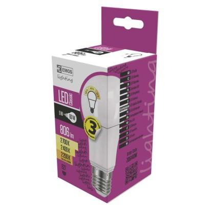 LED žárovka Classic A60 9W E27 teplá bílá, stmívatelná
