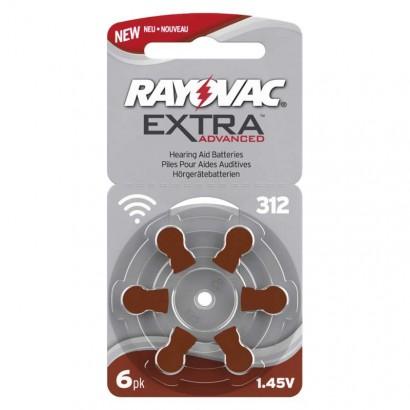 Baterie do naslouchadel RAYOVAC H312MF, blistr