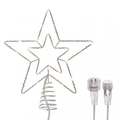 Spojovací Standard LED vánoční hvězda, 28cm, teplá bílá