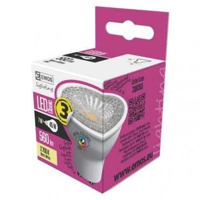 LED žárovka Classic MR16 7W GU10 teplá bílá Ra96