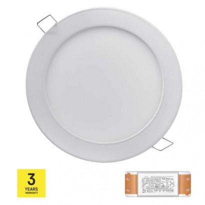 LED panel TRIAK 175mm, kruhový vestavný bílý, 12W teplá bílá