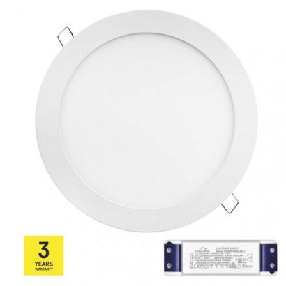 LED panel TRIAK 220mm, kruhový vestavný bílý, 18W teplá bílá