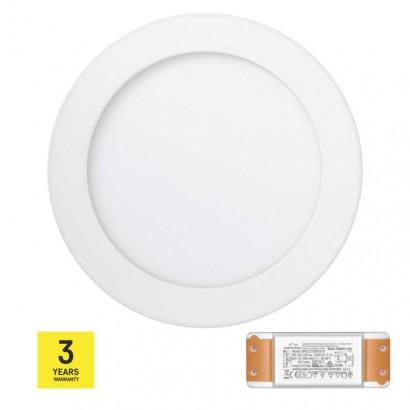 LED panel TRIAK 170mm, kruhový přisazený bílý, 12W teplá b.