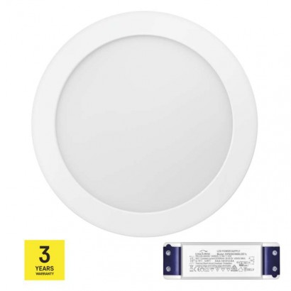 LED panel TRIAK 224mm, kruhový přisazený bílý, 18W neut. b.