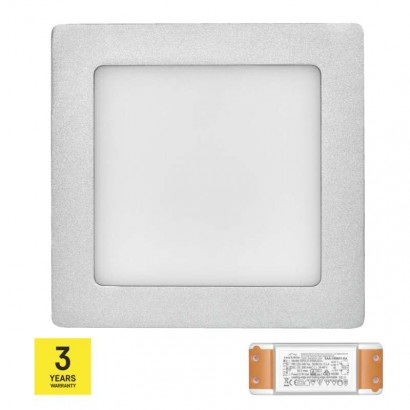 LED panel TRIAK 170×170, čtvercový přisazený stř., 12W n. b.