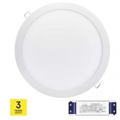 LED panel TRIAK 297mm, kruhový vestavný bílý, 24W teplá bílá