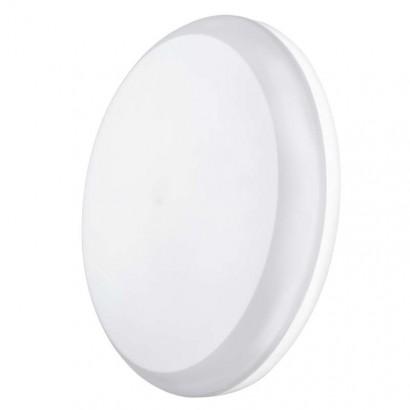 LED přisazené svítidlo Dori, kruhové bílé 18W teplá b., IP54