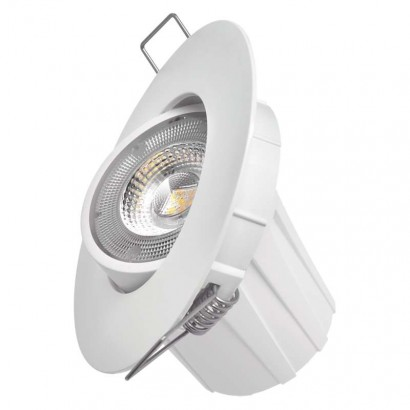 LED bodové svítidlo Exclusive bílé, kruh 8W teplá bílá