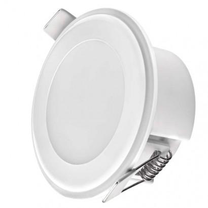 LED panel 2v1 82mm, kruhový vestavný, 5,5W tepl.b.