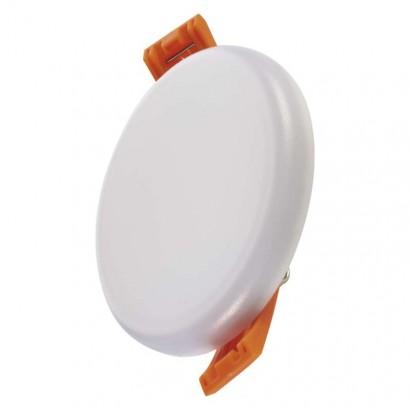 LED panel 75mm, kruhový vestavný bílý, 6W tepl. bíla, IP65