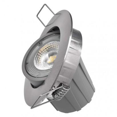 LED bodové svítidlo Exclusive stříbrné, kruh 8W neutrální b.