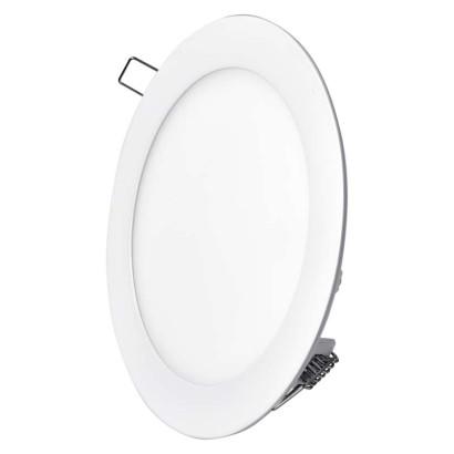 LED panel 168mm, kruhový vestavný bílý, 12W neutrální bílá
