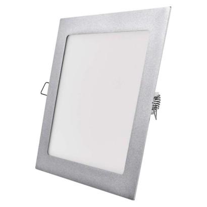 LED panel 225×225, čtvercový vestavný stříbrný, 18W neutr.b.