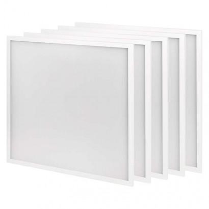 LED panel 60×60, čtvercový vestavný bílý, 30W neutr.b., 5 ks