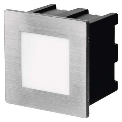LED orientační vestavné svítidlo 80×80 1,5W neutr. bílá,IP65