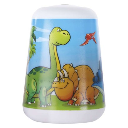 LED dětská lampa se svítilnou Dino, 3× AAA