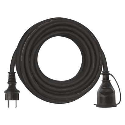 Prodlužovací kabel gumový – spojka, 10m, 3× 1,5mm2
