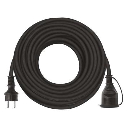 Prodlužovací kabel gumový – spojka, 25m, 3× 2,5mm2