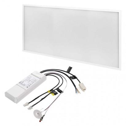 LED panel 30×60, obdélníkový vestavný bílý, 18W neutrální bílá, Emergency