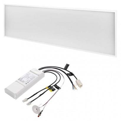 LED panel 30×120, obdélníkový vestavný bílý, 40W neut.b. UGR, Emergency