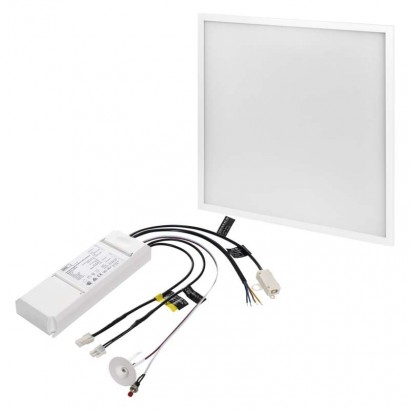 LED panel PROFI 60×60, čtvercový vestavný bílý, 40W neutrální bíla, UGR, Emergency