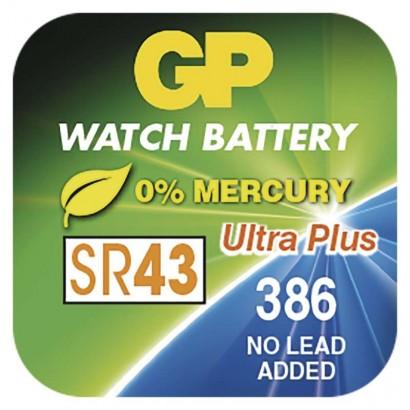 Knoflíková baterie do hodinek GP 386F (SR43, SR1142)
