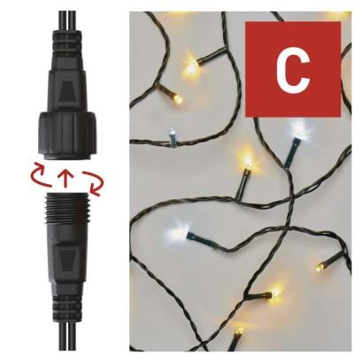 Standard LED spojovací vánoční řetěz blikající, 10 m, venkovní, teplá/studená bílá
