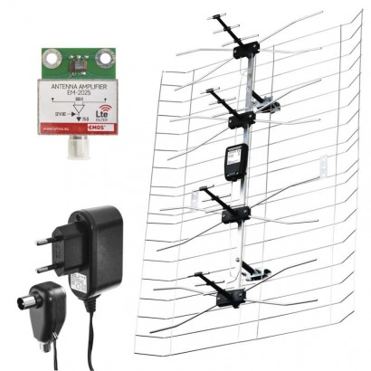 Venkovní anténa EMOS EM-025, 0–100 km DVB-T2
