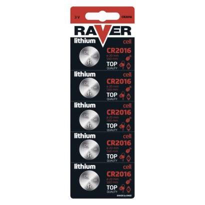 Lithiová knoflíková baterie RAVER CR2016