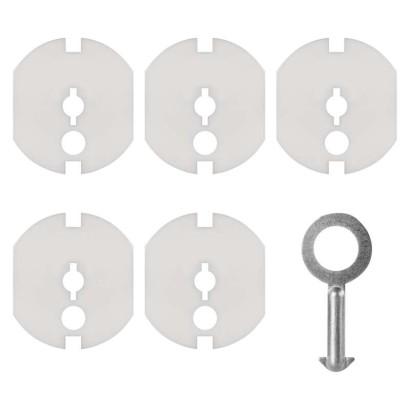 Záslepka do zásuvky bezpečnostní + klíč