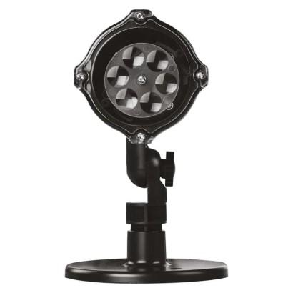 LED vánoční dekorativní projektor – vločky, venkovní i vnitřní, bílá