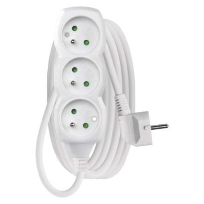 Prodlužovací kabel – 3 zásuvky, 3m, bílý