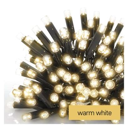 Profi LED spojovací řetěz černý, 10 m, venkovní i vnitřní, teplá bílá