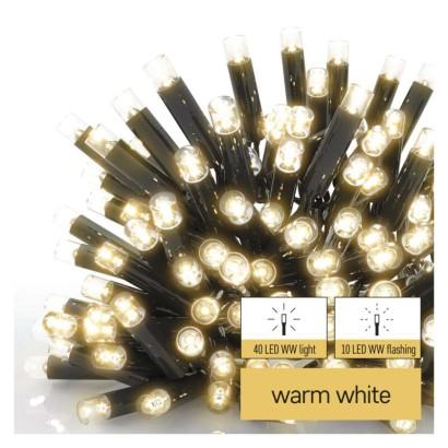 Profi LED spojovací řetěz problikávající – rampouchy, 3 m, venkovní, teplá bílá