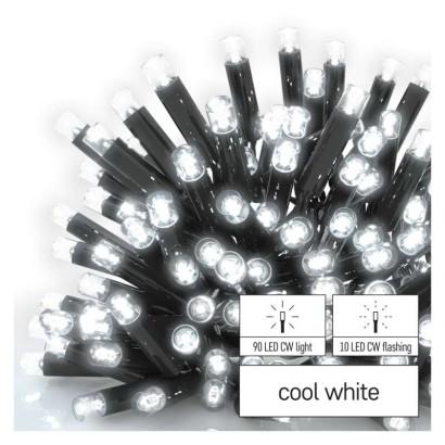 Profi LED spojovací řetěz problikávající, 10 m, venkovní i vnitřní, studená bílá