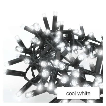 Profi LED spojovací řetěz černý – ježek, 3 m, venkovní i vnitřní, studená bílá