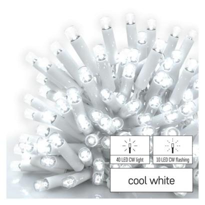 Profi LED spojovací řetěz blikající bílý – rampouchy, 3 m, venkovní, studená bílá