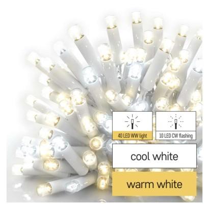 Profi LED spojovací řetěz blikající bílý – rampouchy, 3 m, venkovní, teplá/studená bílá